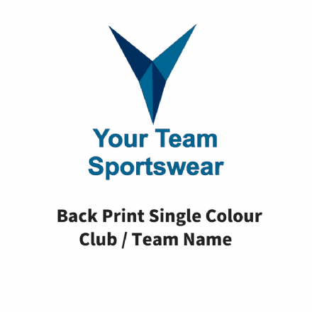 Printed Back Print Single Colour Club / Team / Names